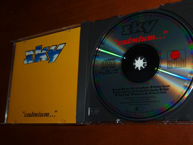 Sky - Cadmium... 1st cd Herbie Flowers John Williams Steve Gray ARIOLA no UPC