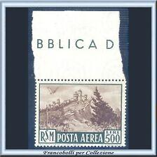 1951 San Marino - Posta Aerea Veduta L. 500 n. 97 Nuovo Integro **