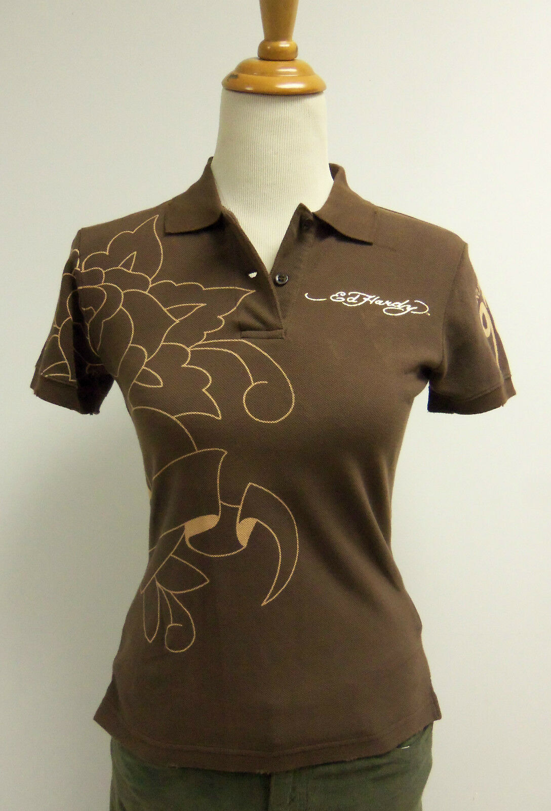 Ed Hardy Juniors Polo Shirt W Indian Design