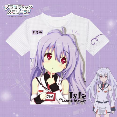 Japanes Anime Plastic Memories Isla T-shirt Full Color Printing Casual Tee HOT