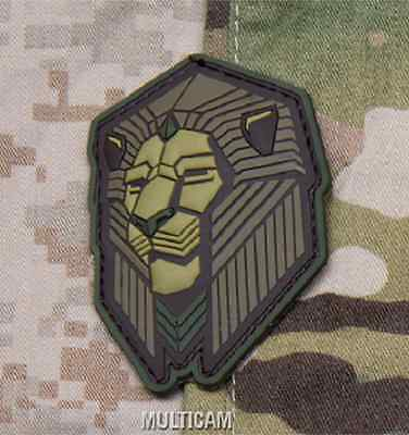 INDUSTRIAL LION PVC TACTICAL ARMY MORALE MULTICAM VELCRO® BRAND FASTENER PATCH