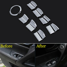 8x Interior Door Window Lift Switch Cover Trim For Qashqai  X-Trail Rogue 14-16