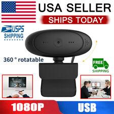 360° Rotatable HD 1080P Webcam Auto Focus Web Cam Camera w/ Mic For PC Laptop