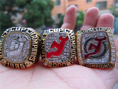 1995 2000 2003 New Jersey Devils Stanley Cup Championship Ring Set Fan Men  Gift c13391f66