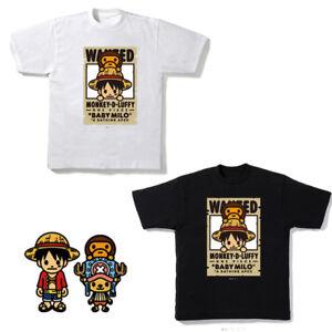 fc979fd1 A BATHING APE (Bape) x ONE PIECE LUFFY x BABY MILO Black T Shirt | eBay