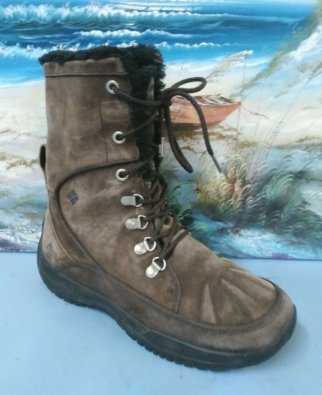 Columbia Womens Thinsulate brown winter Lacer boot size 9   BL2185