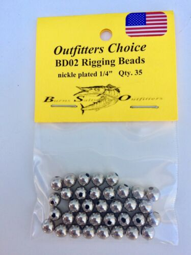 "Rigging Beads Nickle Plated ¼/""   35 pack"