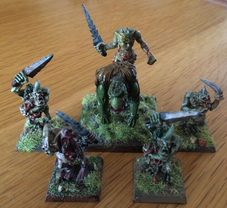 Warhammer Chaos PLAGUEBEARERS of Nurgle Metal Miniatures Lot de 5 Pro Painted