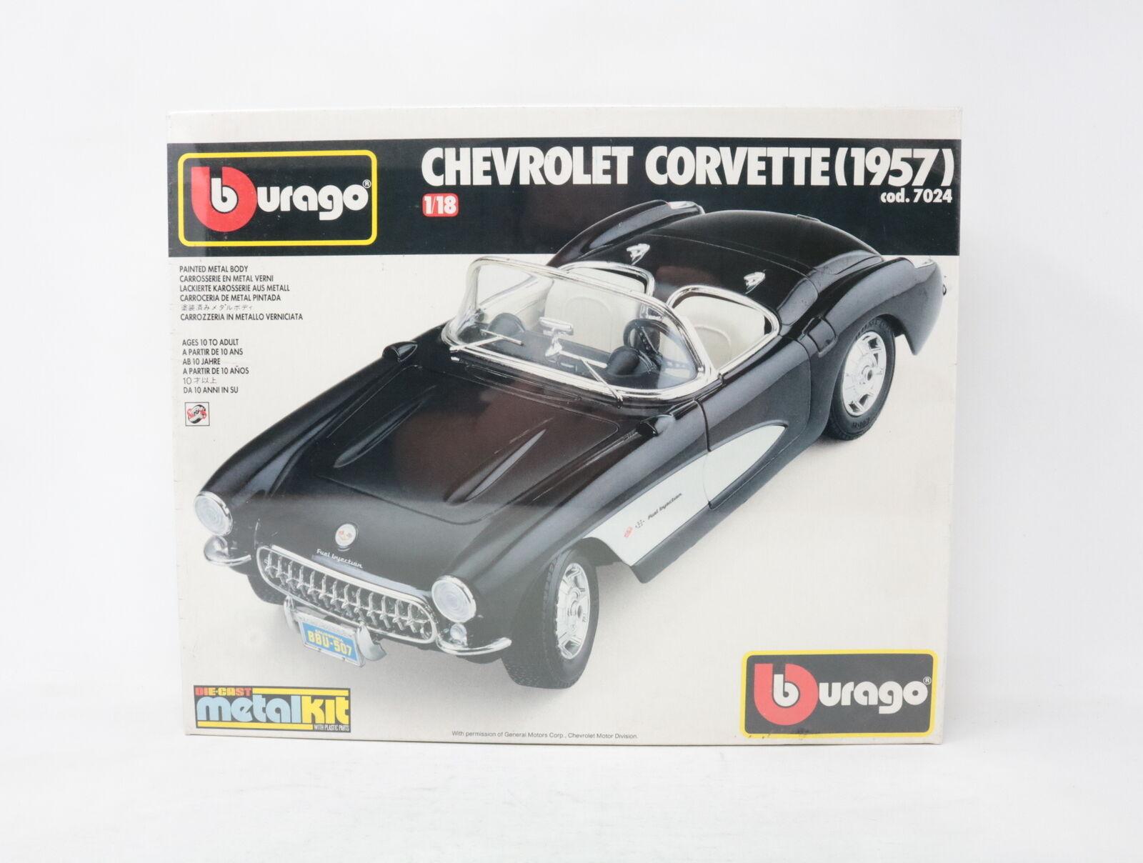 1 18 BBURAGO Metal Kit Chevrolet Corvette 1957 COD. 7024 [ks-008]