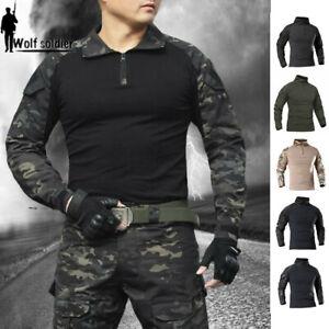 Multicam-Black-Mens-Military-Tactical-T-Shirts-Combat-Long-Sleeve-Casual-Shirts