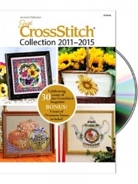 Just Cross Stitch 2011-2015 Collection DVD - 30 Issues + 5 Ornament Issues New