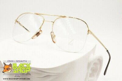 Gentile Lozza Mod. Nyrim 1 Golden Aviator Frame Eyewear, Double Bridge, New Old Stock
