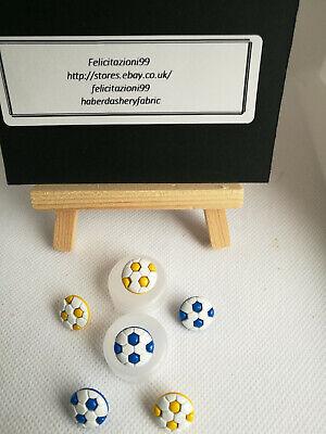 Football Soccer Button 13mm Plastic Shank Novelty Ball Round