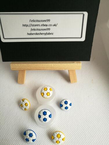 Fútbol Botones forma caña bebé para niños 13mm en 2 Colores Novedad.