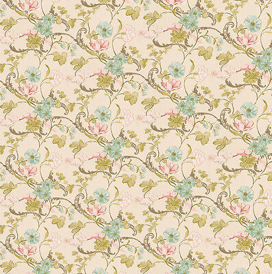 Dolls House Wallpaper 1/12th 1/24th scale Beige Quality Paper #13