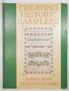 Creating-Historic-Samplers-Book-Cross-Stitch-Embroidery-Grow-amp-McGrail-1974