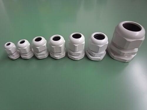 10 Stück Kabelverschraubung PG 16 Weiß ETPG16