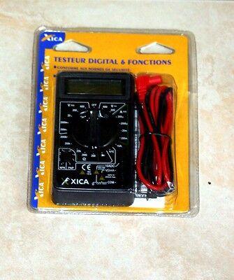 TESTEUR Digital Pour controle electrique, 6 FONCTIONS,  XICA   NEUF