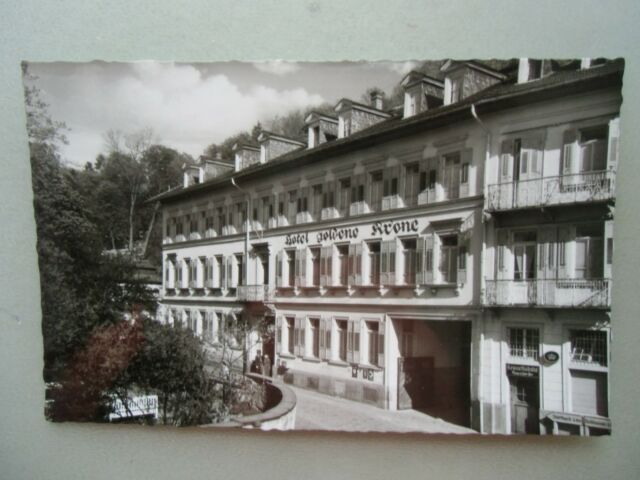 Ansichtskarte Jugenheim a. d. Bergstraße Hotel Goldene Krone 50er?