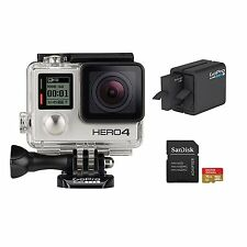 GoPro Hero4 Bundle HD Video Camera 1080p Wifi Waterproof Silver LN