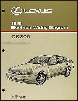 1995 Lexus GS 300 Electrical Wiring Diagram Manual 95 GS300 Original Schematics