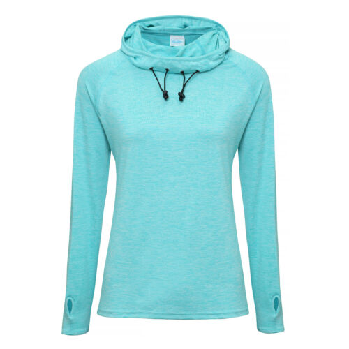 Women/'s fittted training//sports top AWDis Just Cool Girlie Cool Cowl Neck Top