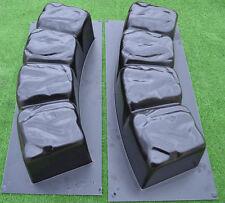 Concrete molds 47.2in round edge stonelog edging border garden curbs 2 pcs BR04