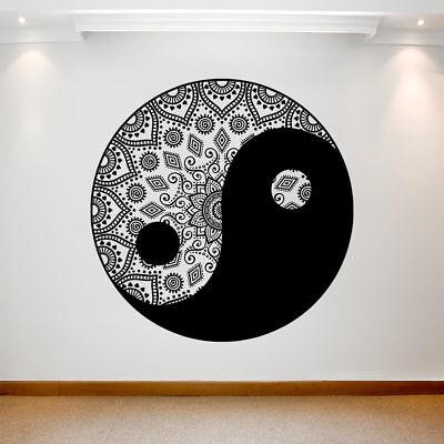100% Vero Grande Adesivo Decalcomania Muro Art Rimovibile Vinile Impermeabile Trasferimento Mandala Round- Domanda Che Supera L'Offerta