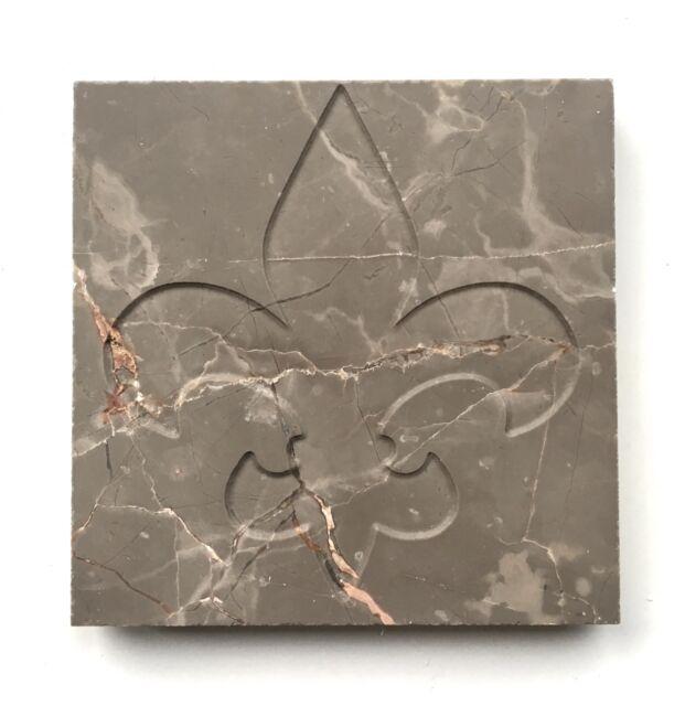 Fleur De Lis Marble Floor Tile