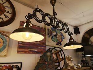 Ausgefallene Design Industrie Deckenlampe Ausziehbar bis 175 cm Loft Lampe