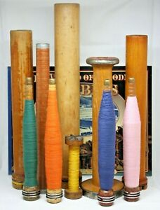 World-of-Wooden-Bobbins-Textile-Collector-Book-and-Antique-Spindles-Industrial