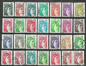 L069-Lot-28-Timbres-Marianne-SABINE-GANDON-1978-1979-1980-1981-SERIE