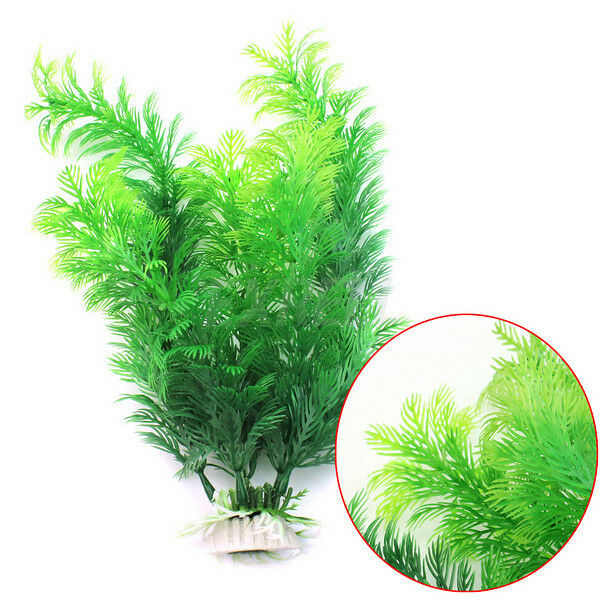New Cute Artificial Fake Green Underwater Plant for Fish Tank Aquarium Oranment