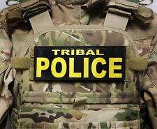 "3x8/"" POLICE CRIMINAL INVESTIGATIONS Black White Hook Morale Raid Patch SWAT"