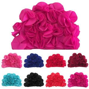 Bonnet Bain Chapeau Fleur Etanche Beret Cap Pour Douche Natation