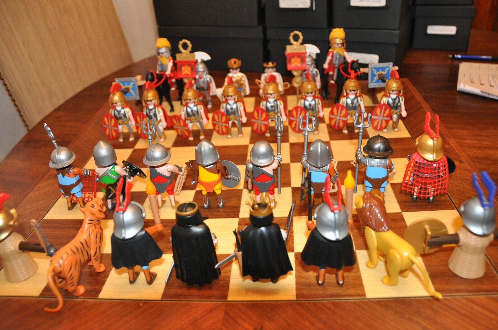 Jeu d'échecs  playmobil - Série batailles Romaines, Guerre de Spartacus  (11)  première réponse