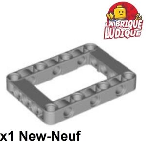 Lego-Technic-1x-Liftarm-5x7-open-center-frame-cadre-gris-l-b-gray-64179-NEUF