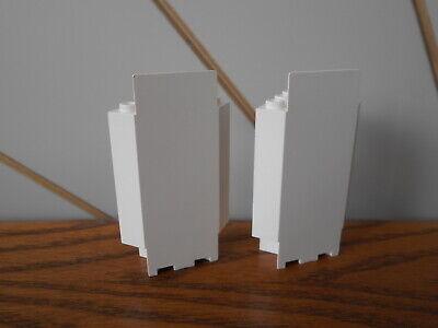 VINTAGE WHITE 6x1 1x6 BRICK spare part//piece x5 genuine LEGO Vintage Legoland