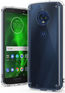 online store 109da 4bc87 Details about For Motorola Moto G6 | Ringke [FUSION] Clear PC Shockproof  Protective Case Cover