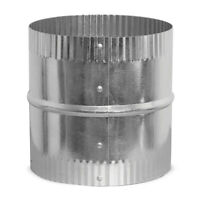6-inch Hvac Coupler Collar Splicer Crimped Steel Sheet-metal Flex Duct-connector