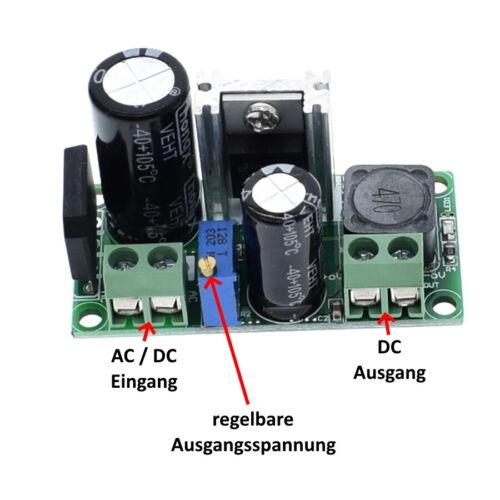 S481 Spannungsregler AC//DC In 6-30V AC Out 3-25V DC 2,5A einstellbar