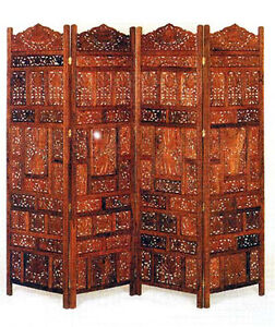 Details About Hand Carved Solid Wood Screen Room Parions