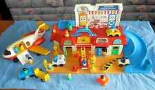 Vintage Fisher Price Little People Main Street Set Plus Airplane Accessories Lot