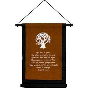 Tree Of Life Banner Scroll Wall Hanging