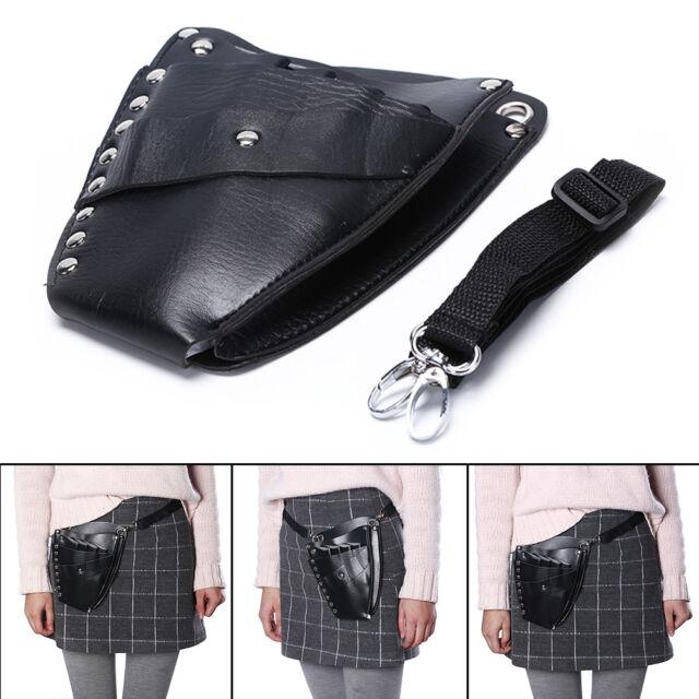 PU Leather Barber Hair Scissor Bag Hairdressing Holster Pouch Holder Case Bag EB