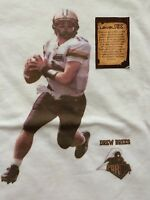 Drew Brees Purdue College Football Stars Nfl Saints T Shirt Sz Youth L