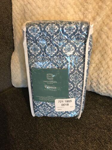 Jcp Home Expressions Emma Medallion Rod Pocket Valance 52 W x 15 L Blue