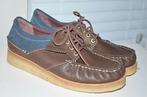 MSRP-170-New-Clarks-Originals-Leather-Suede-Wallace-Lace-Up-Loafer-Sz-12-Mens
