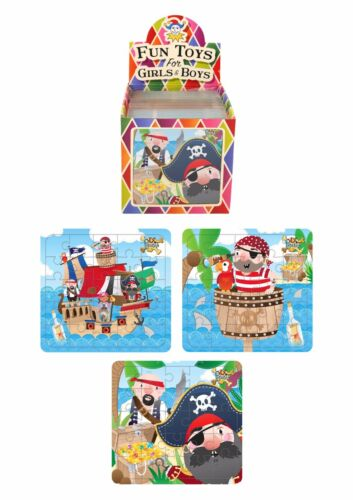PIRATE PUZZLE Kids Birthday Christmas Party Bag Filler Favors Loot Toy Gift UK