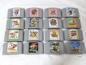 Tested-Lot-16-Original-Nintendo-64-N64-Cartridge-Japanese-Mario-Kirby-Donkey